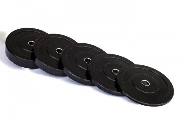 Odhazovací gumové kotouče bumper plate trainingg