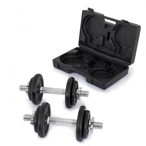 TRINFIT Činky jednoručky v kufříku 2x 10 kg 30 mmg