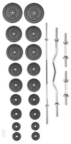 Činkový set TRINFIT PREMIUM XL kovový 130 kg