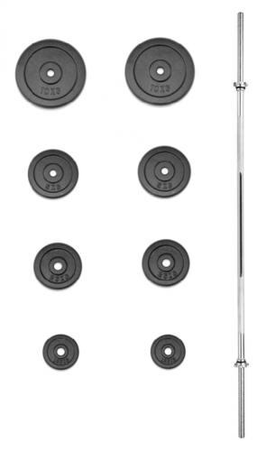 Nakládací činka TRINFIT PREMIUM XL kovová 45 kg