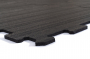 TRINFIT Sportovní gumová podlaha do fitness_puzzle_černág