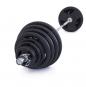 Olympijská činka TRINFIT 180 kg pugumovaná