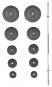 Nakládací činka TRINFIT PREMIUM XL kovová 75 kg